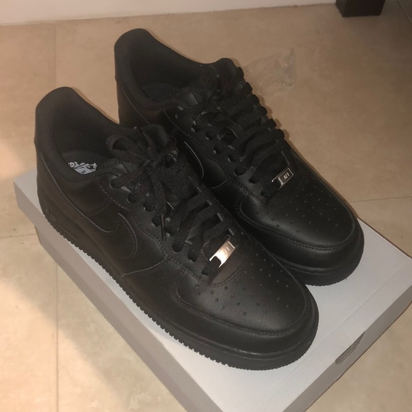 all black air force ones